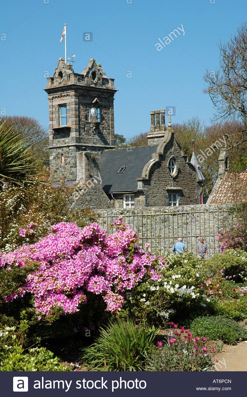 la seigneurie from the gardens sark channel islands april home of the seigneur of sark originally built around - Home And Garden Channel