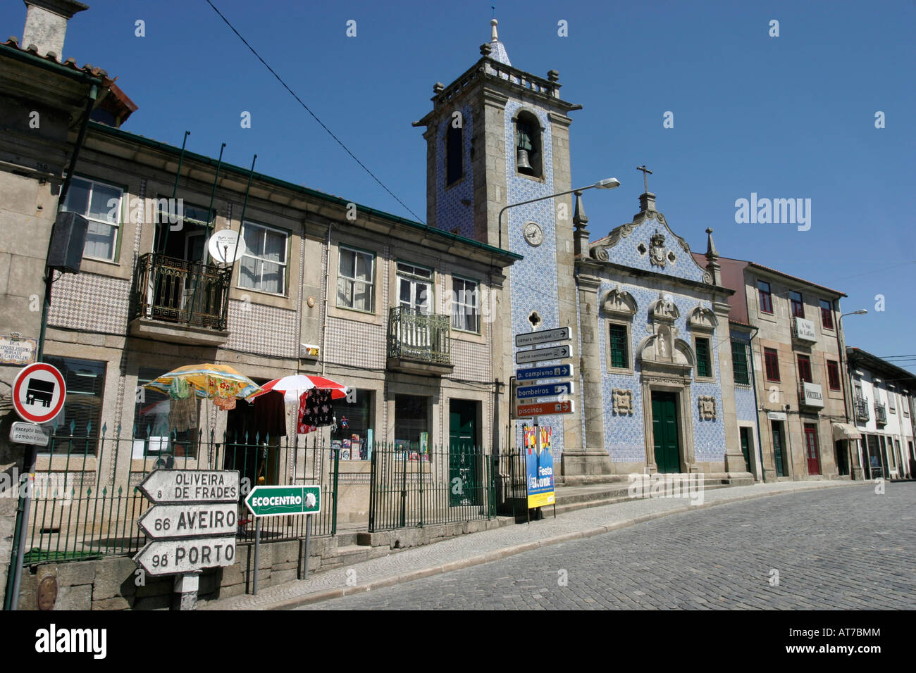 Beira Alta town of Vouzela Portugal Stock Photo 16226467 Alamy