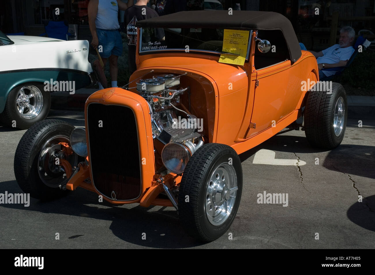 Los Angeles California car show antique customized Ford Roadster ...