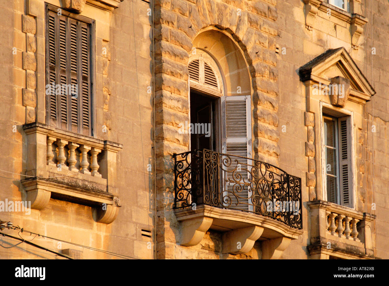 Typical maltese balcony st julian s malta stock photo for Julian balcony