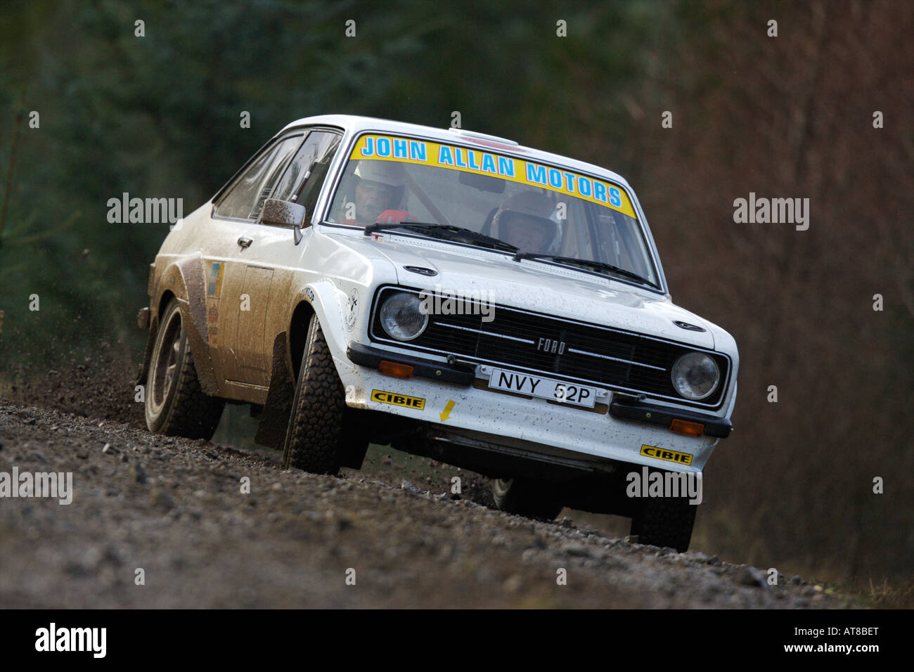 Colin McRae\'s old Mark 2 Ford Escort rally car Stock Photo ...