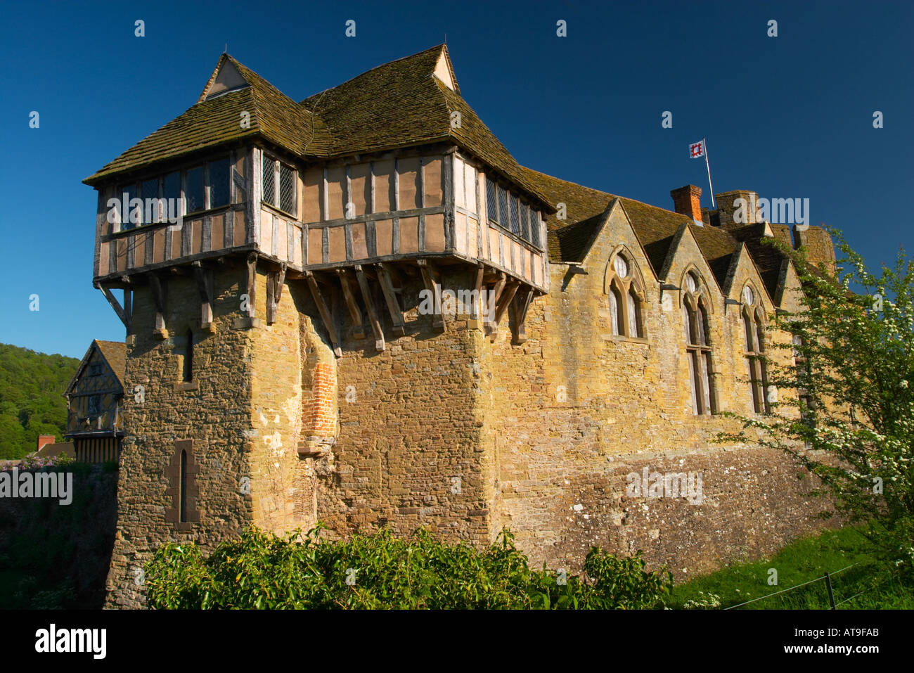 Stokesay Castle Shropshire England 13th century fortified manor ...