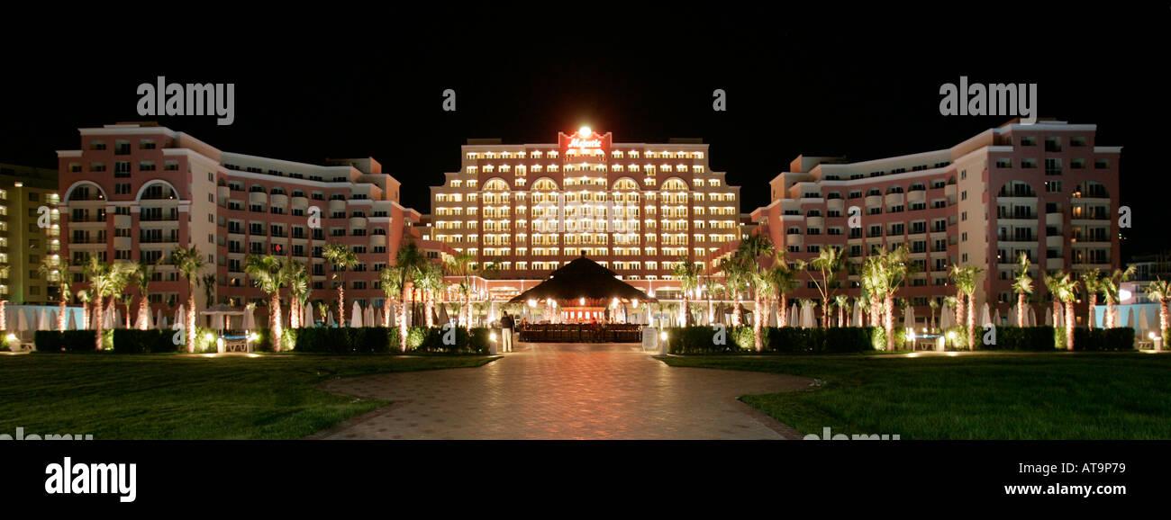 sunny beach bulgaria majestic hotel night black sea coast site