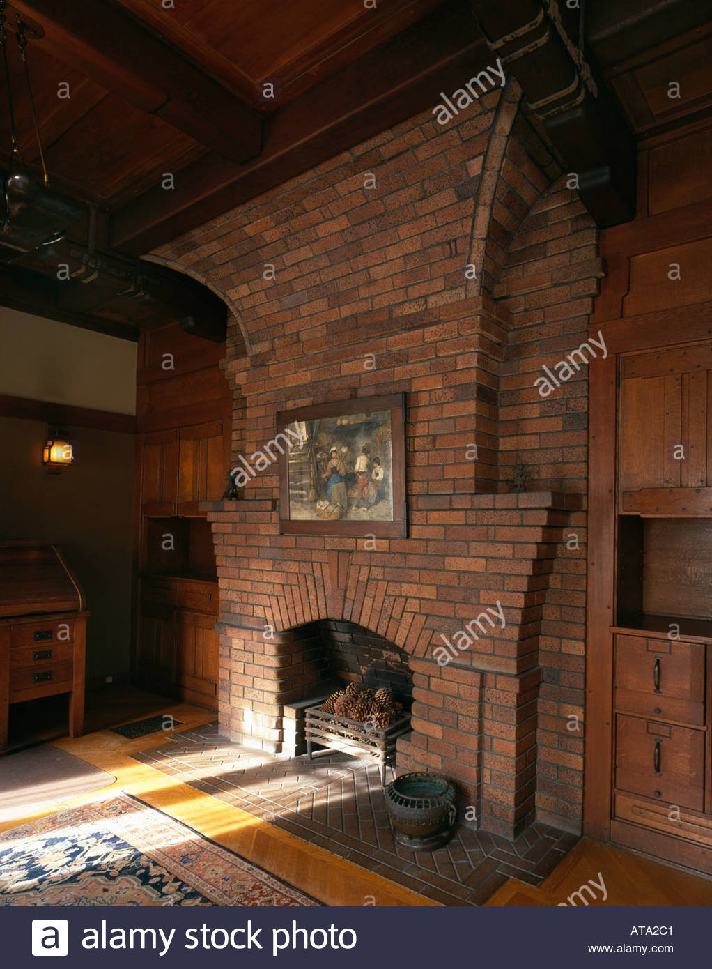 The David B. Gamble House, Pasadena, California. Fireplace In Mr Gambleu0027s  Den. Architect: Greene And Greene Part 62