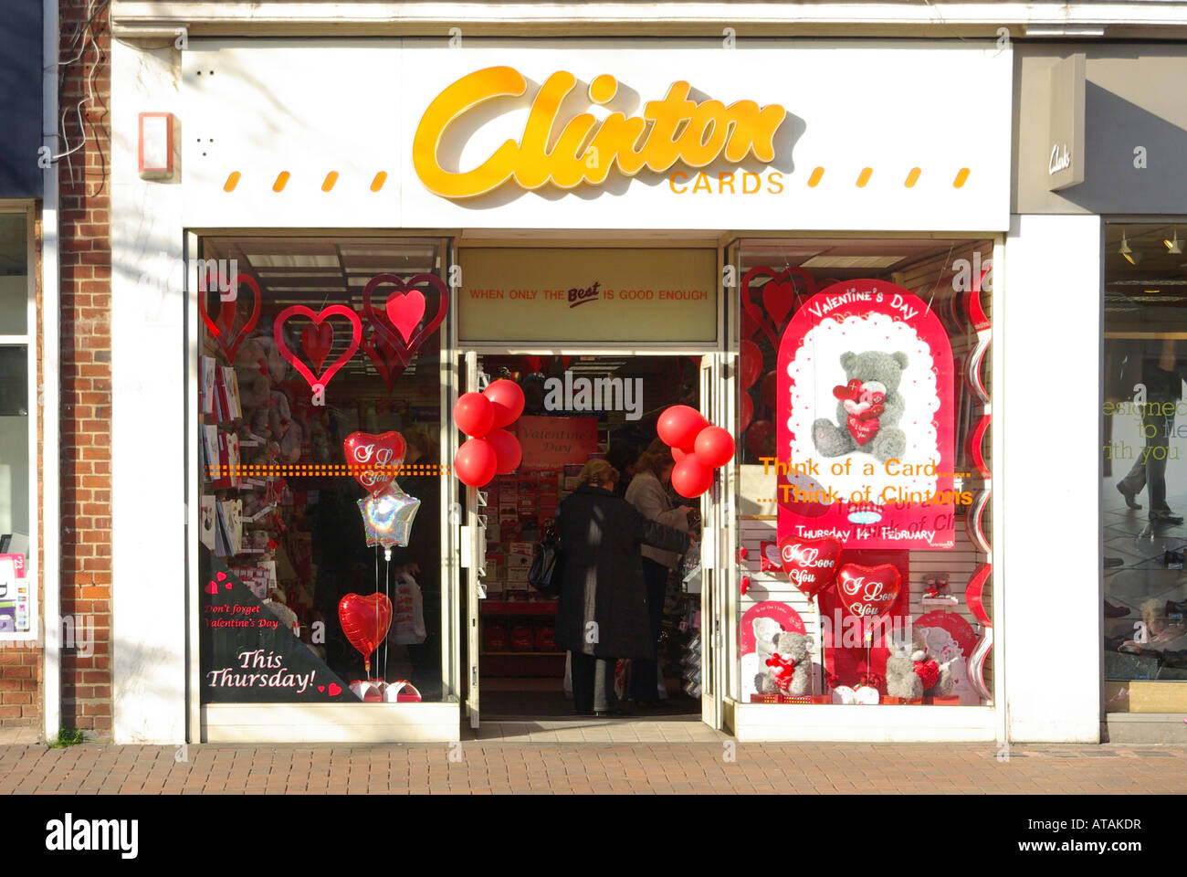 Clintons UK greeting card retail shop front retailers store – Birthdays Card Shop Uk
