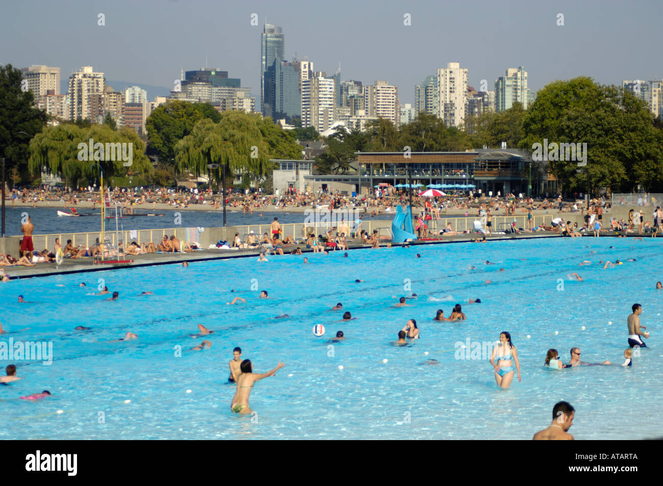 Kitsilano Pool Canada 39 S Longest Swimming Pool At 137 Metres Is Stock Photo Royalty Free Image