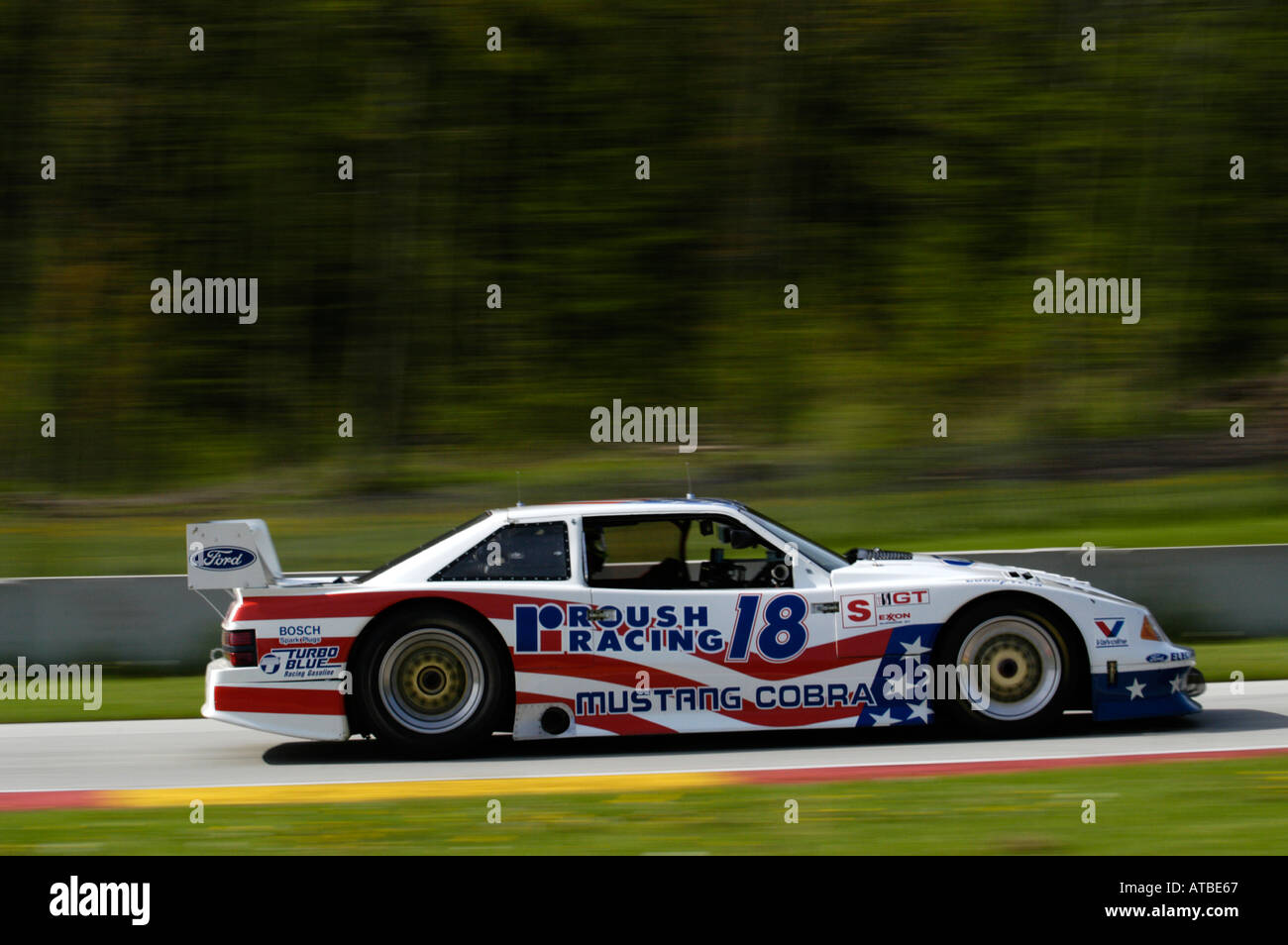 Peter Klutt races the Hartwig Team 1990 Mustang Trans Am car at ...