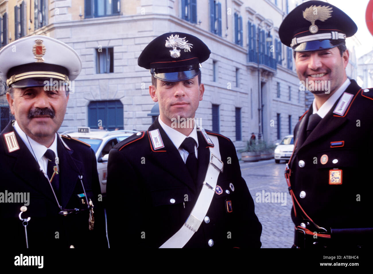 Rome Police Department >> Carabinieri or Police in Rome, Italy Stock Photo: 5309891 - Alamy