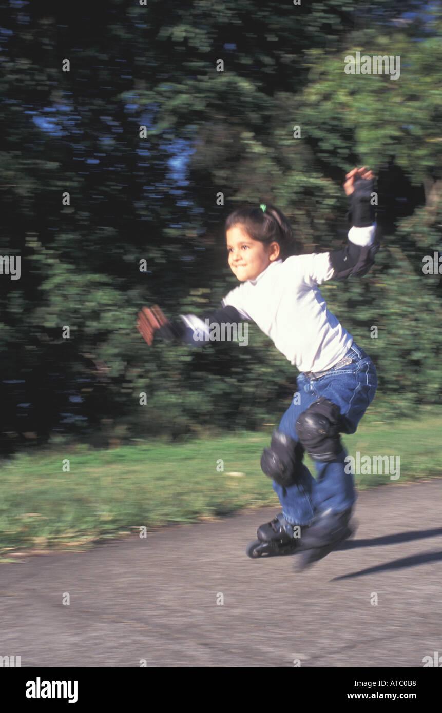 Roller skates queensland - Australia Qld Young Girl Rollerblading