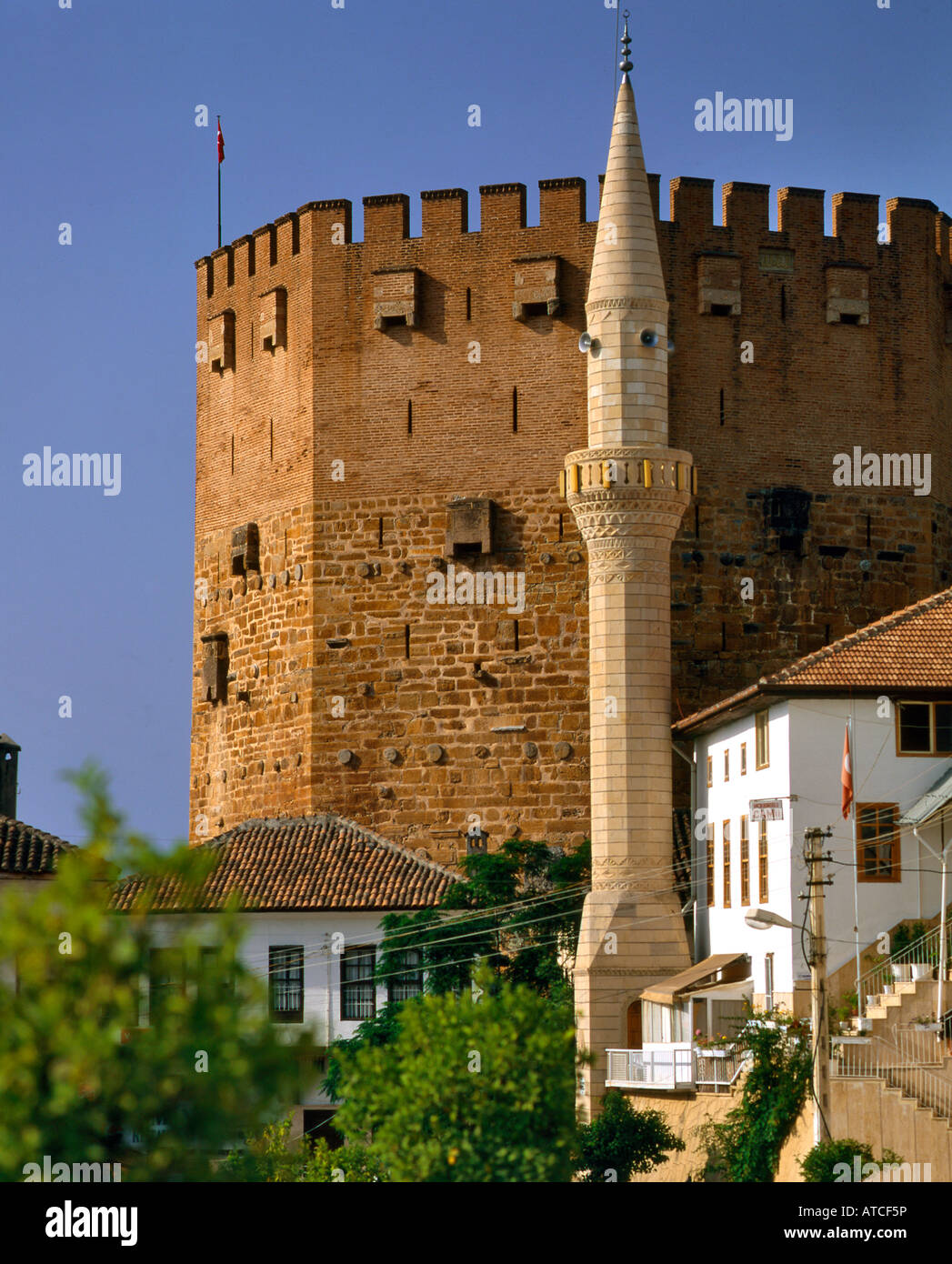 Alanya Castle and Mosque Turkey Stock Photo, Royalty Free ...