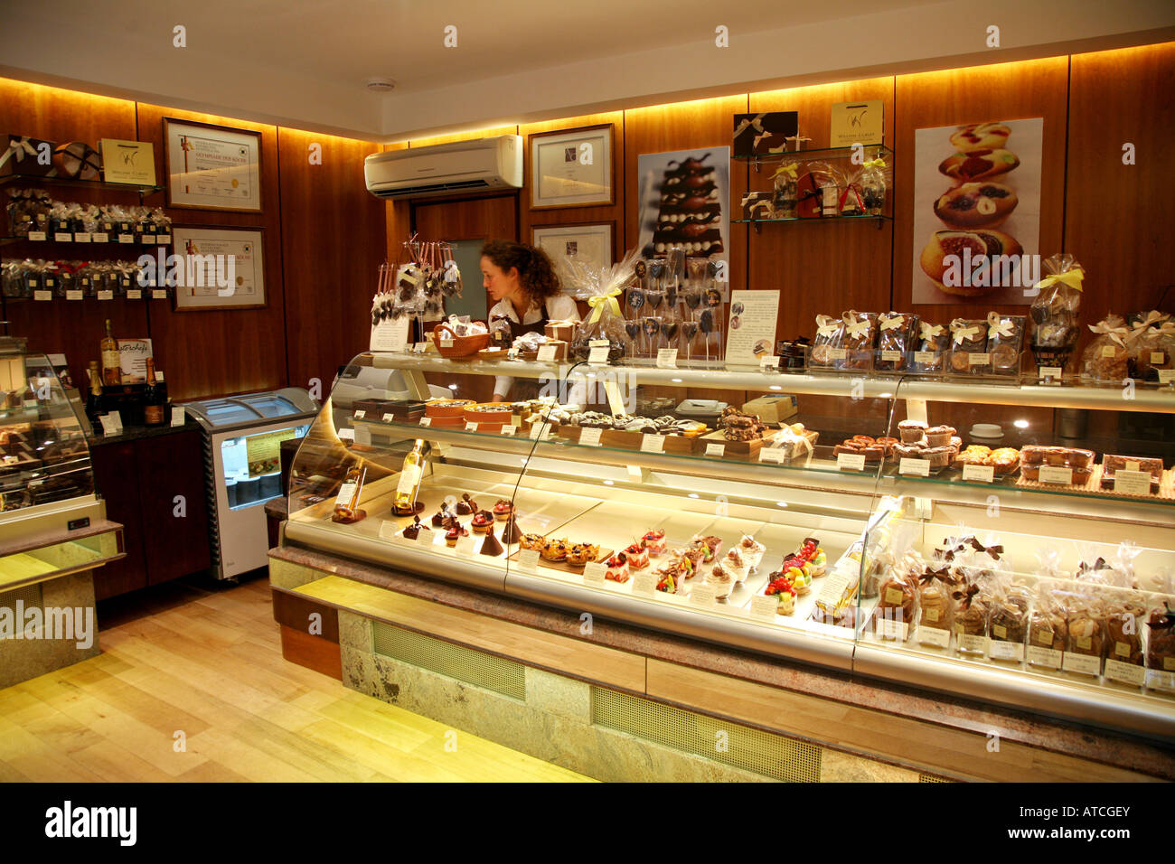 Interior of William Curley Chocolate shop Paved Court Richmond ...