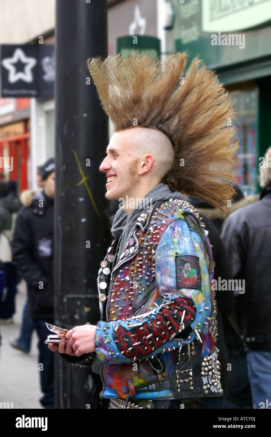 punk with mohawk hair cut stock photo royalty free image