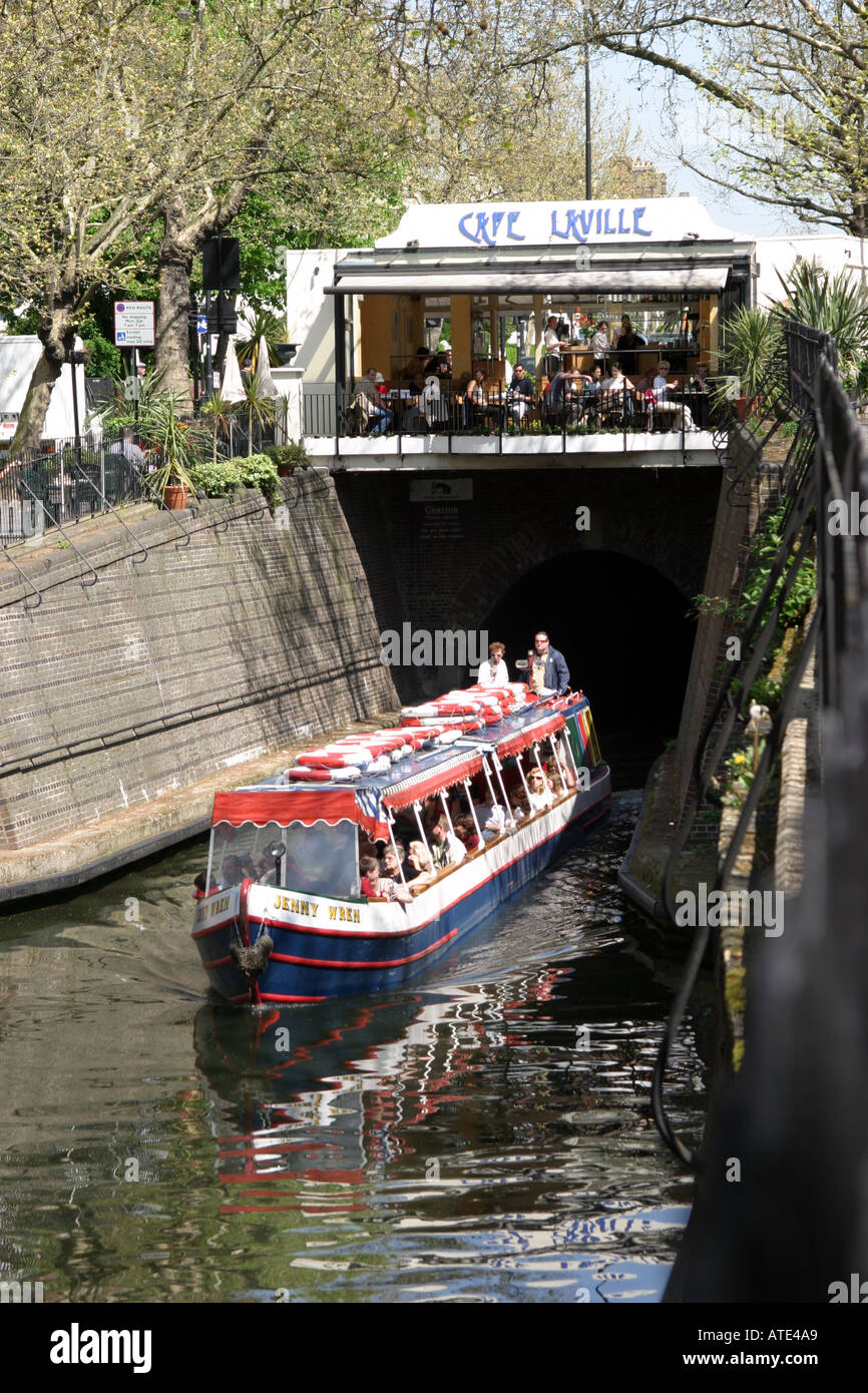 restaurant on the bridge over the canal at little venice in london stock photo royalty free. Black Bedroom Furniture Sets. Home Design Ideas