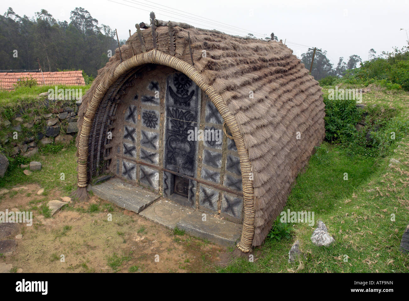 Traditional Construction toda village house showing traditional construction near ooty hill