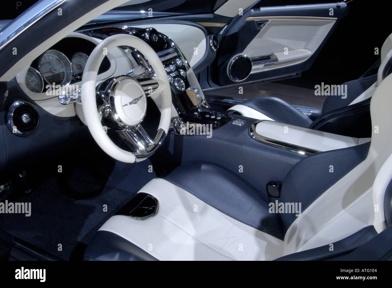 Chrysler Firepower concept car interior at the North American International Auto Show 2005