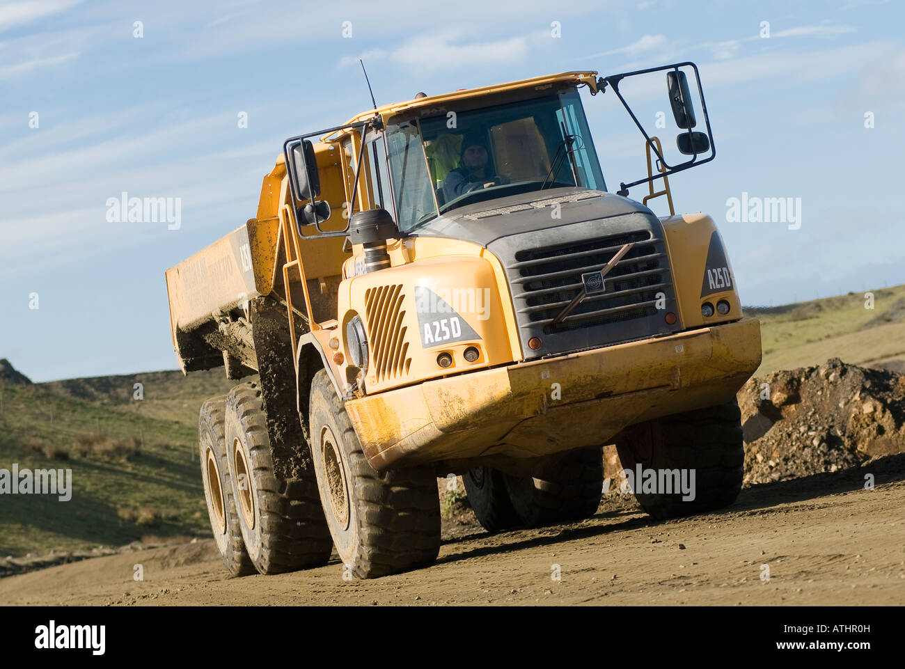 Stock photo volvo a25d dump truck at clee hill quarry