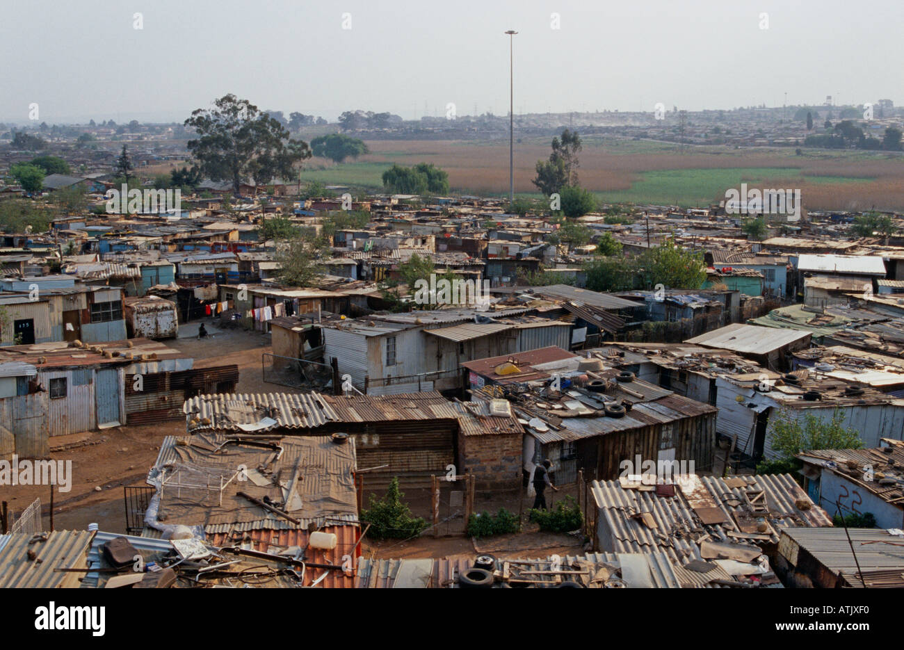 A View Of Township Durban South Africa Stock Photo