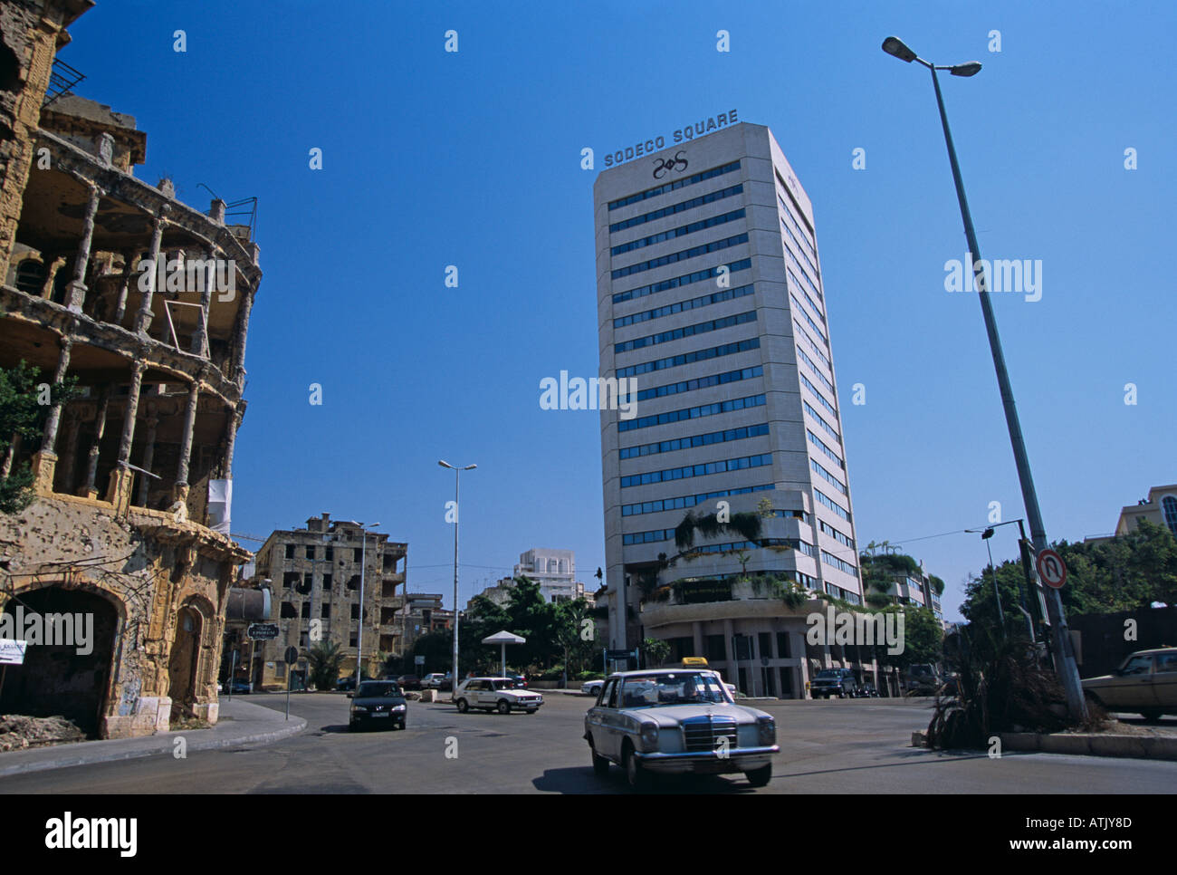 sodeco square in beirut lebanon stock photo royalty free image 5333900 alamy. Black Bedroom Furniture Sets. Home Design Ideas