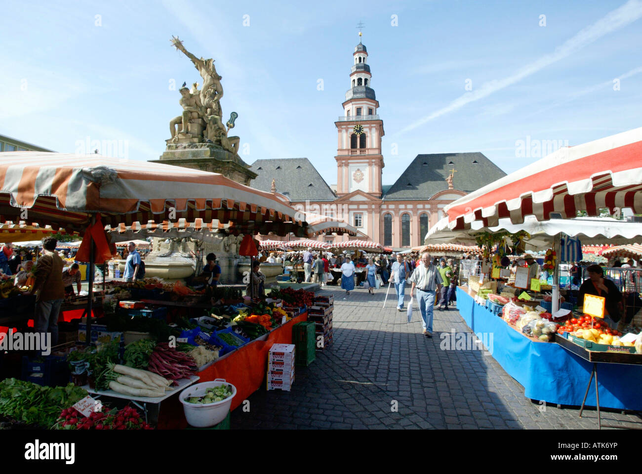market mannheim markt stock photo royalty free image 16337769 alamy. Black Bedroom Furniture Sets. Home Design Ideas