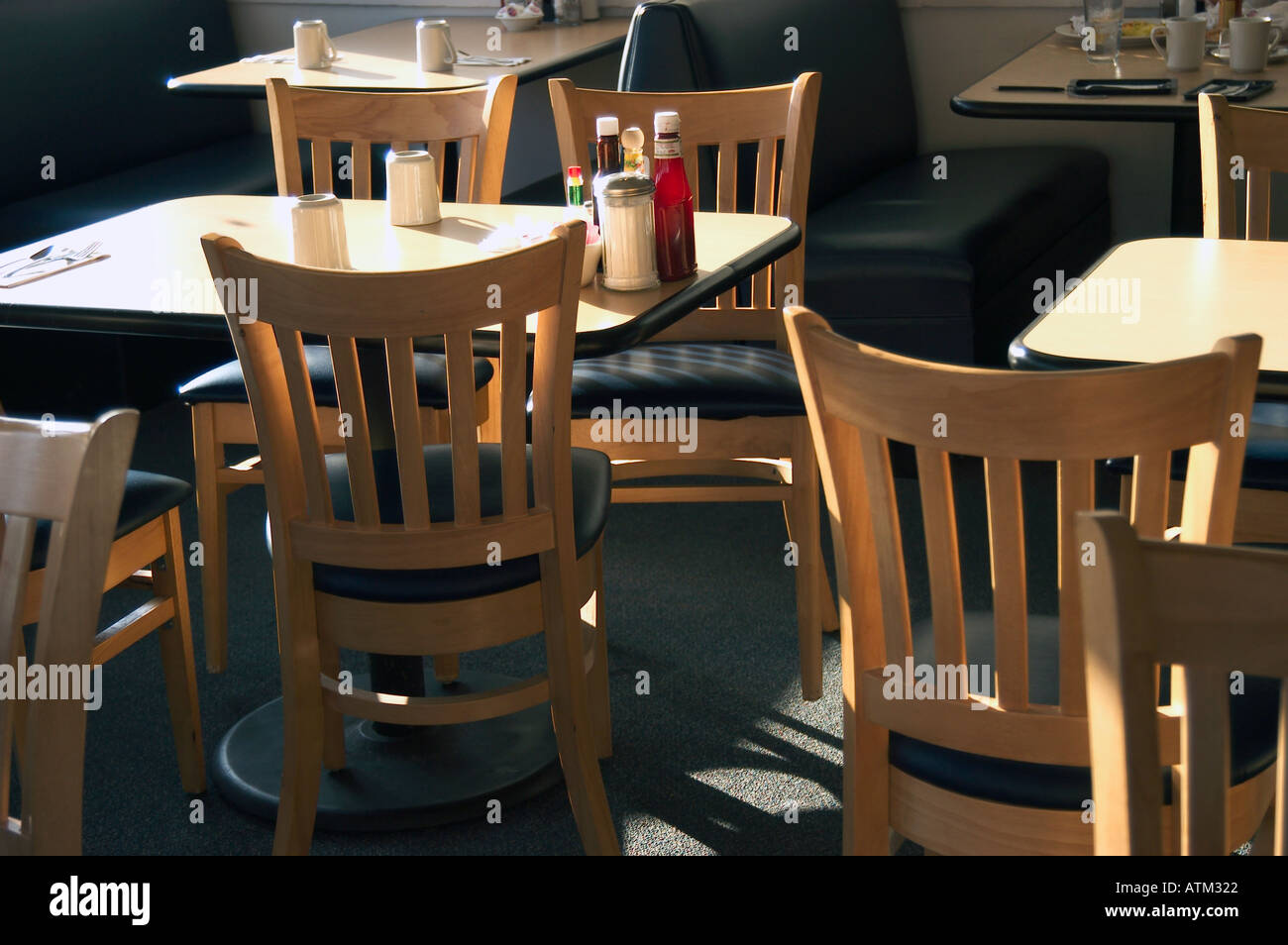 Coffee Shop Tables And Chairs coffee shop tables and chairs stock photo, royalty free image