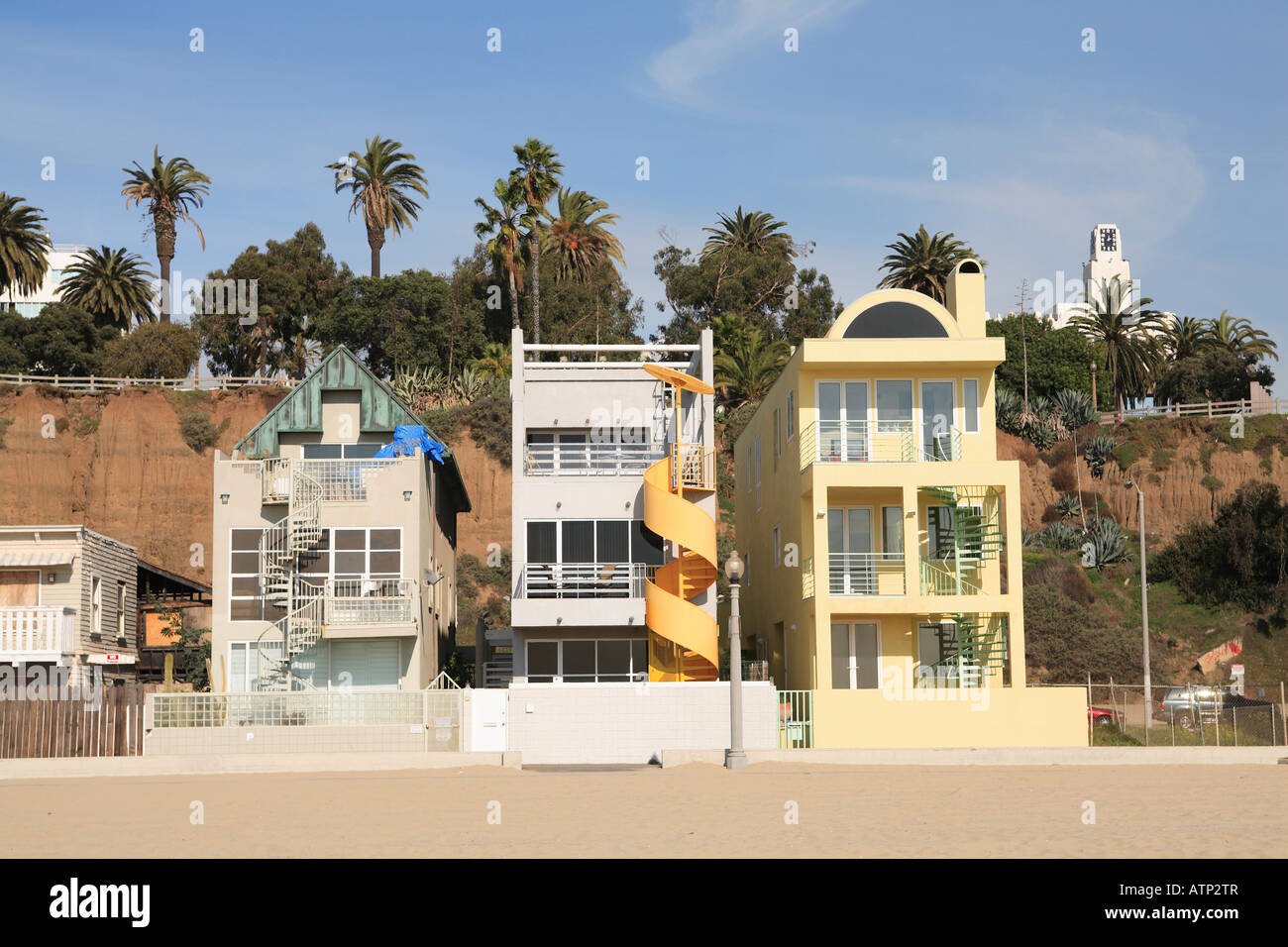Pictures of houses on the beach - Santa Monica Beach Houses Los Angeles California Usa
