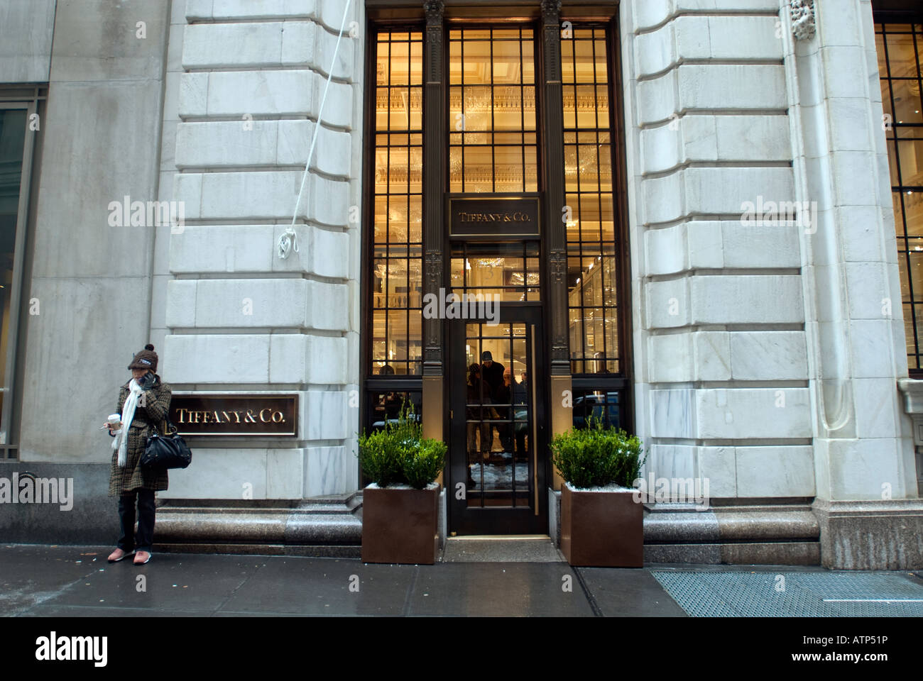 The tiffany and co jewelry store on wall street near the for Jewelry stores in new york ny
