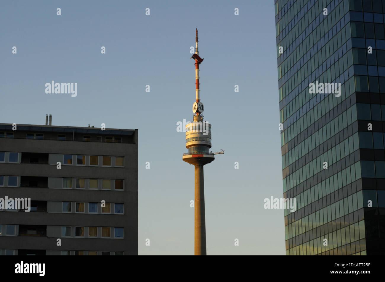Modern Architecture Vienna vienna, danube city, modern architecture, danube tower stock photo