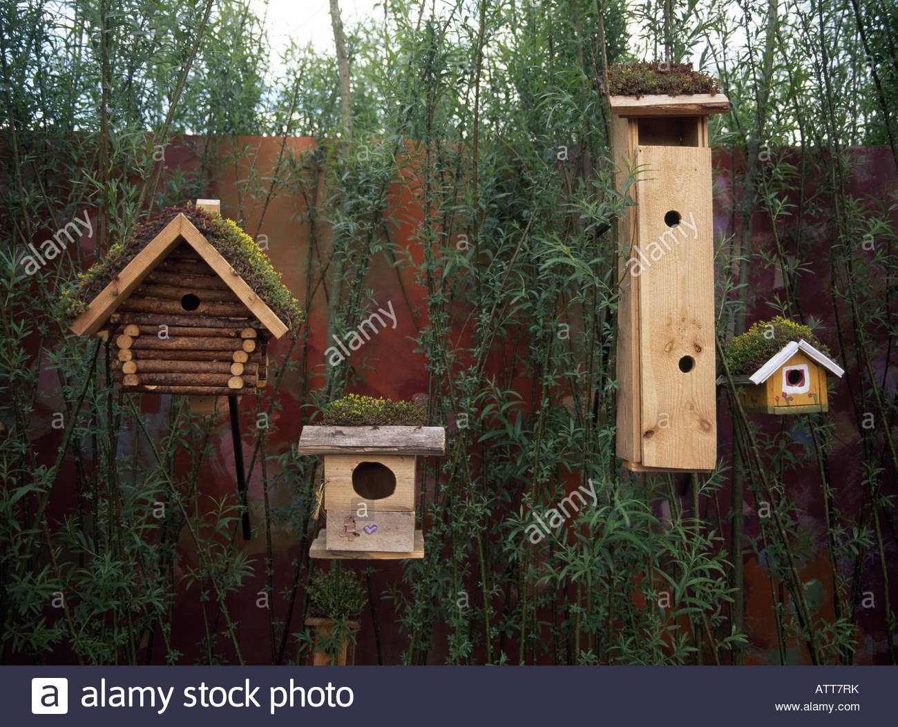 Different types of birdhouses stock photo royalty free for Different types of birdhouses
