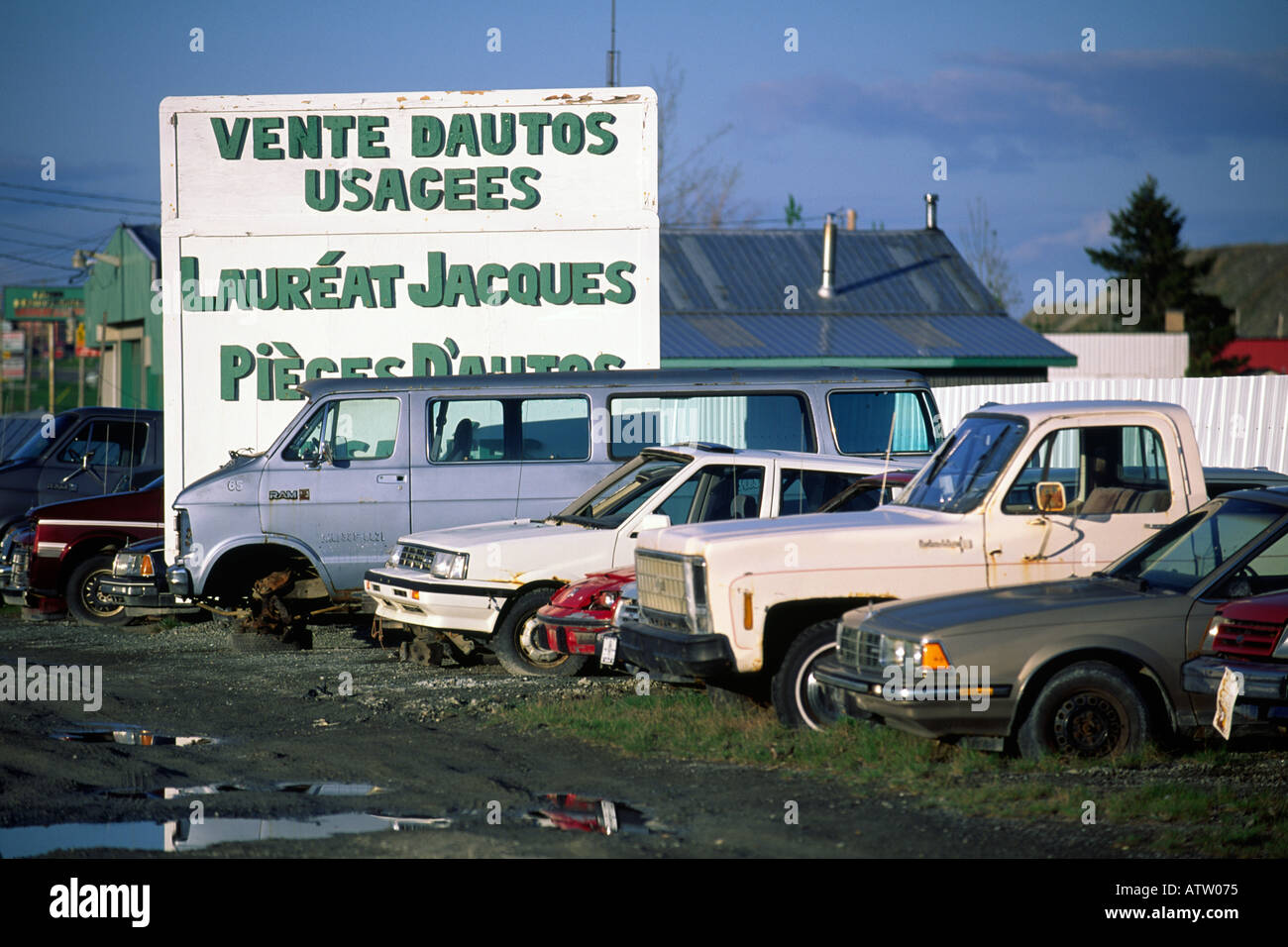Used car sales lot, Quebec Canada Stock Photo, Royalty Free Image ...