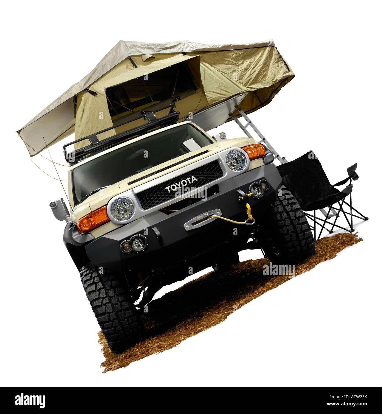 Toyota FJ Cruiser 2008 with a Tent  sc 1 st  Alamy & Toyota FJ Cruiser 2008 with a Tent Stock Photo Royalty Free Image ...
