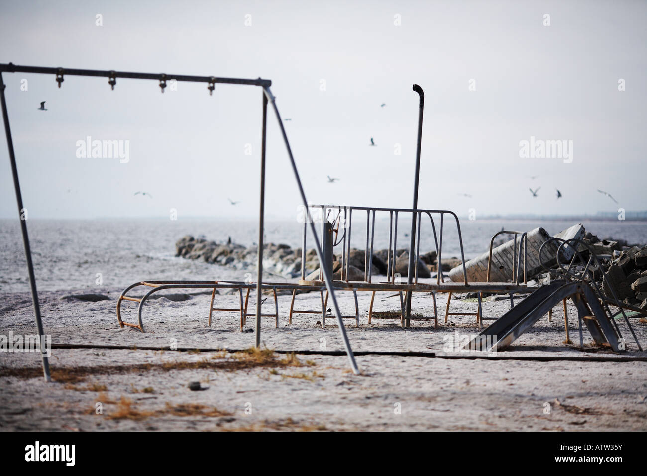 Empty Playground in North Shore, The Salton Sea, Imperial ...