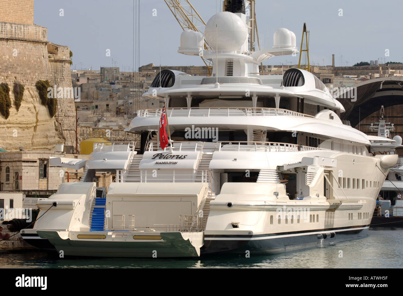 Superyacht abramovich  Pelorus super yacht owned by Roman Abramovich in November 2005 ...