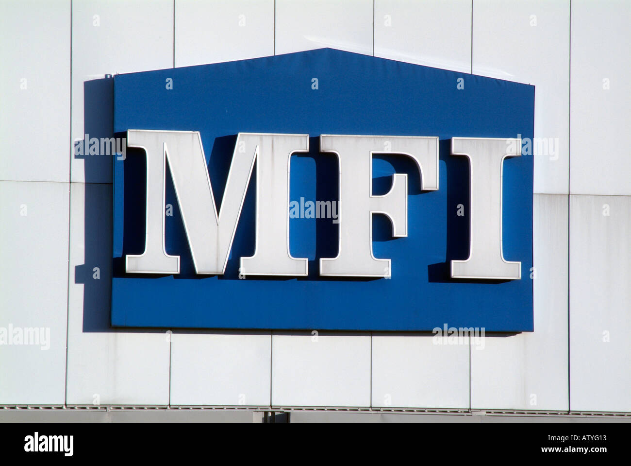 Mfi home improvement centre store logo red blue white exterior mfi home improvement centre store logo red blue white exterior display sign diy do it yourself store banner advertisement solutioingenieria Choice Image
