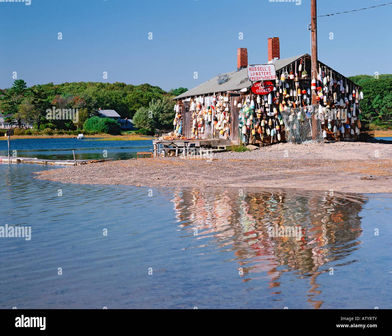 USA MAINE CAPE NEDDICK LOBSTER SHACK Stock Photo, Royalty Free Image: 16418714 - Alamy