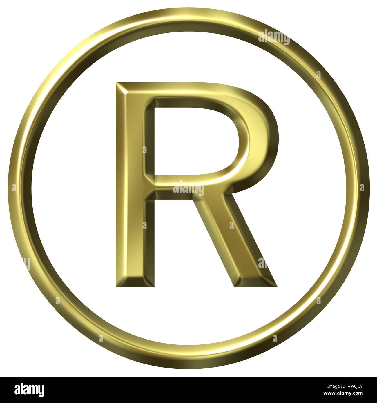 3d golden registered symbol stock photo royalty free image 3d golden registered symbol buycottarizona Gallery