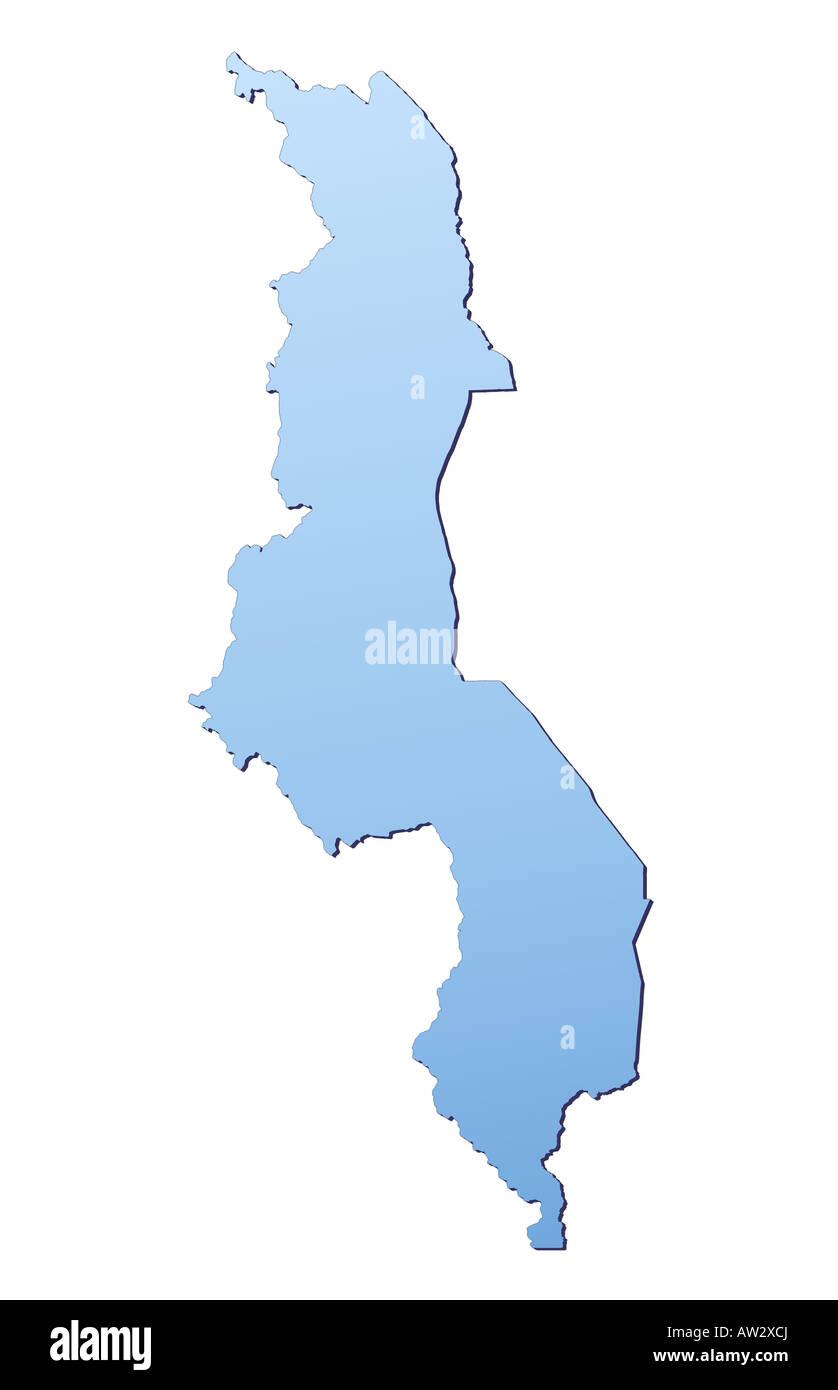 Malawi Map Stock Photo Royalty Free Image Alamy - Malawi blank map