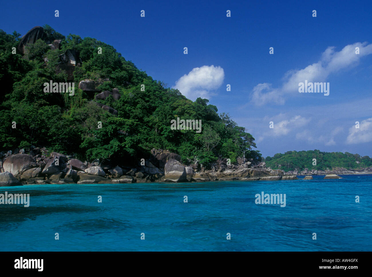 beach, Ko Similan Island, Phang Nga Province, Thailand, Asia Stock Photo, Roy...