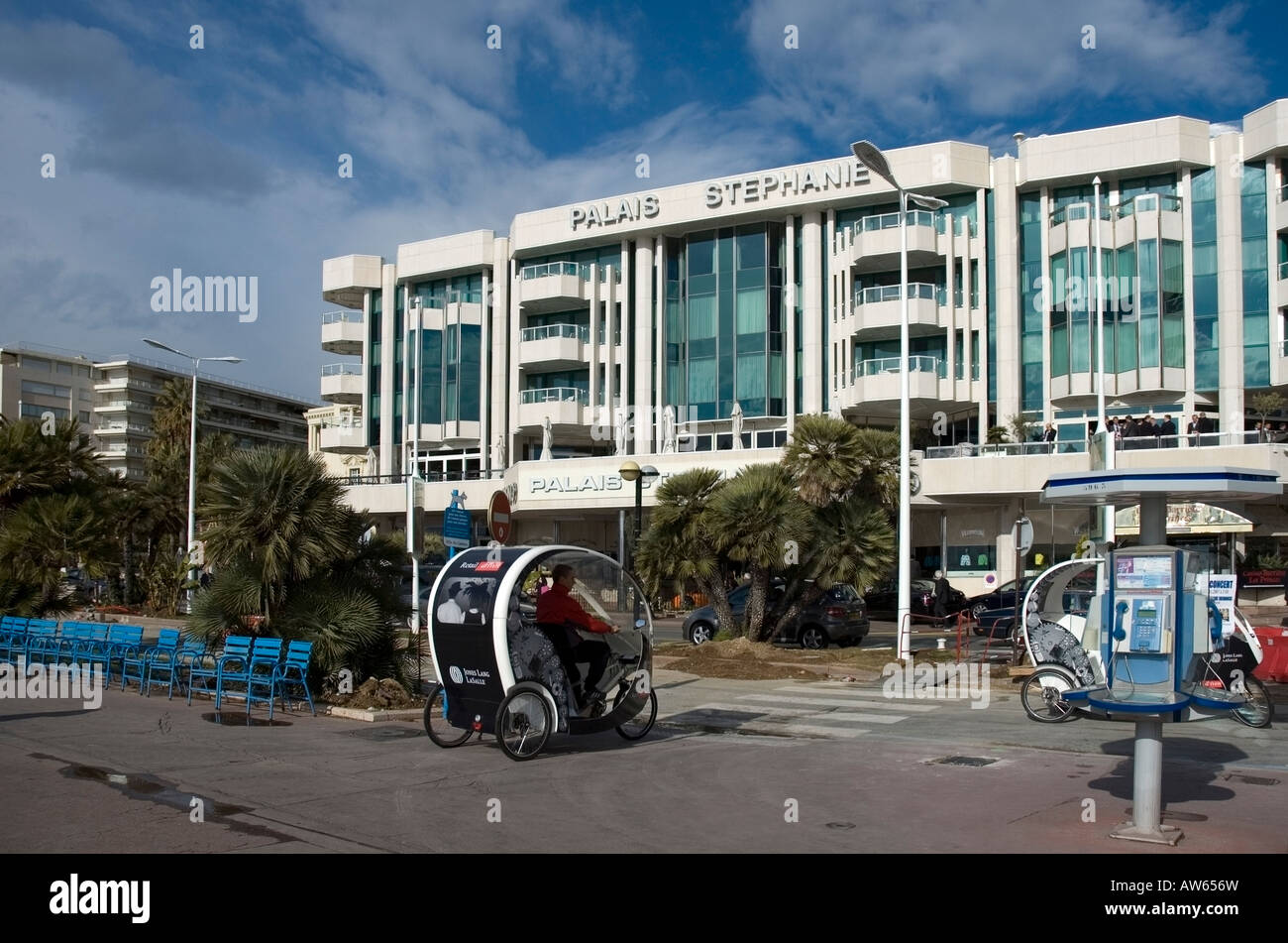 Wonderful Modern Architecture La Hotel Faade And Seaside Transport Buggy At Croisette Promenade Cannes French Riviera H To Decor
