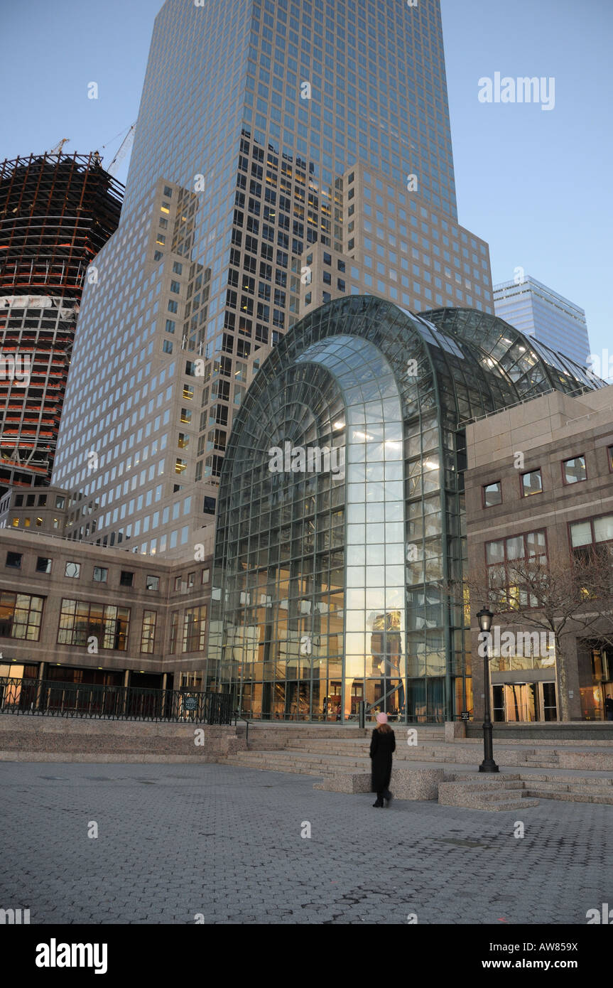 the winter garden of the world financial center in battery park