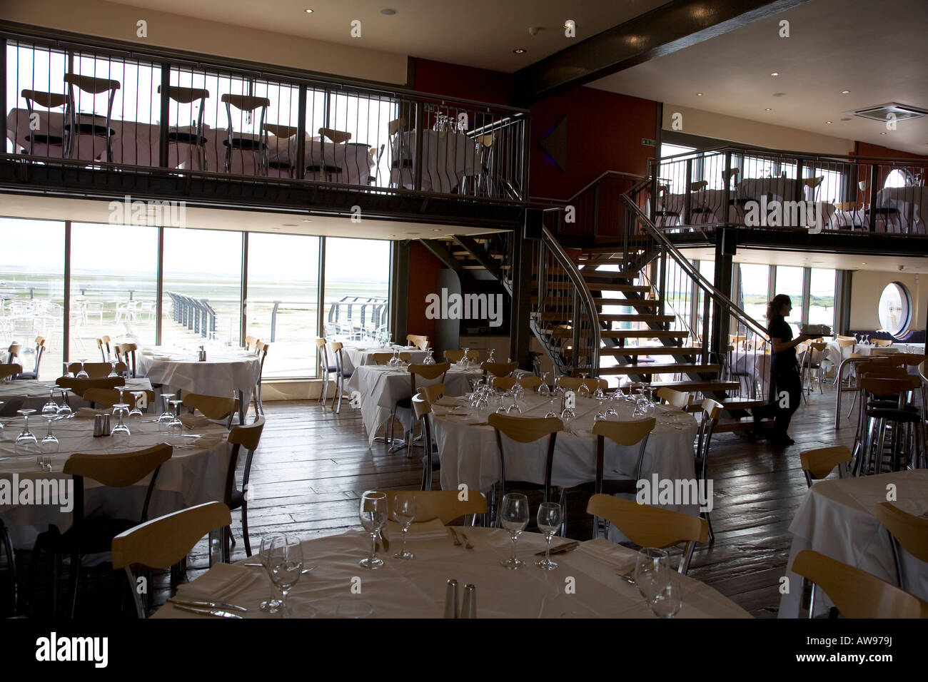 The \'Boatyard\' upmarket restaurant overlooking the sea front of ...