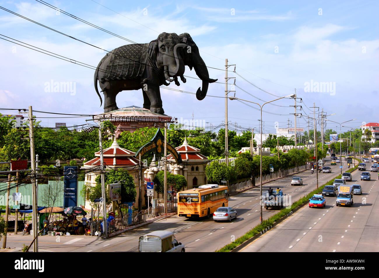 Three Headed Elephant Statue