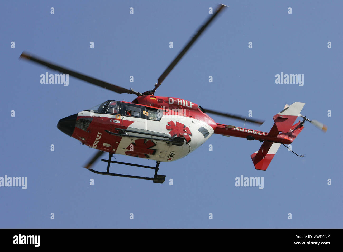 Flying ambulance, rescue helicopter, Christoph 53, Deutsche Stock ...