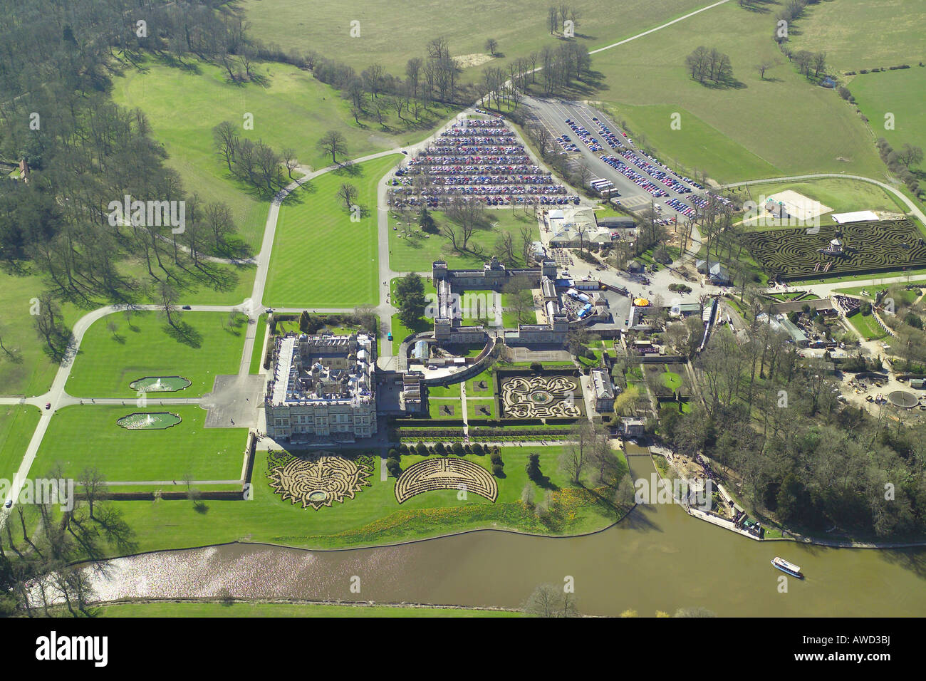 Aerial view of longleat house shown with it 39 s formal for See images of my house