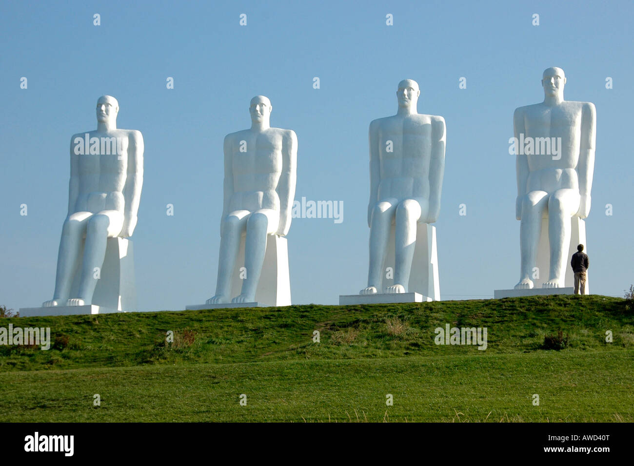 Group of Sculptures at Esbjerg beach, Denmark, Europe Stock Photo, Royalty Free Image: 16543751 ...