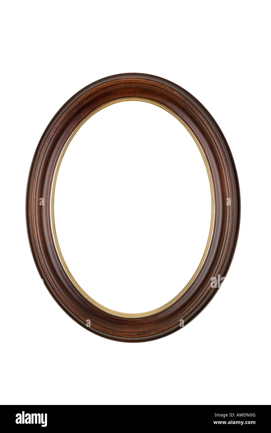 Picture frame oval round brown wood isolated on white background picture frame oval round brown wood isolated on white background jeuxipadfo Gallery