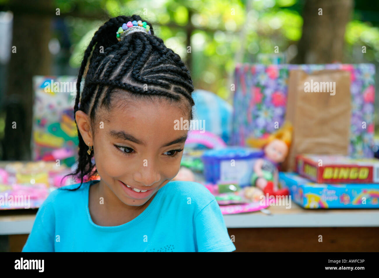 Young Girl With Braids In Her Hair Georgetown Guyana