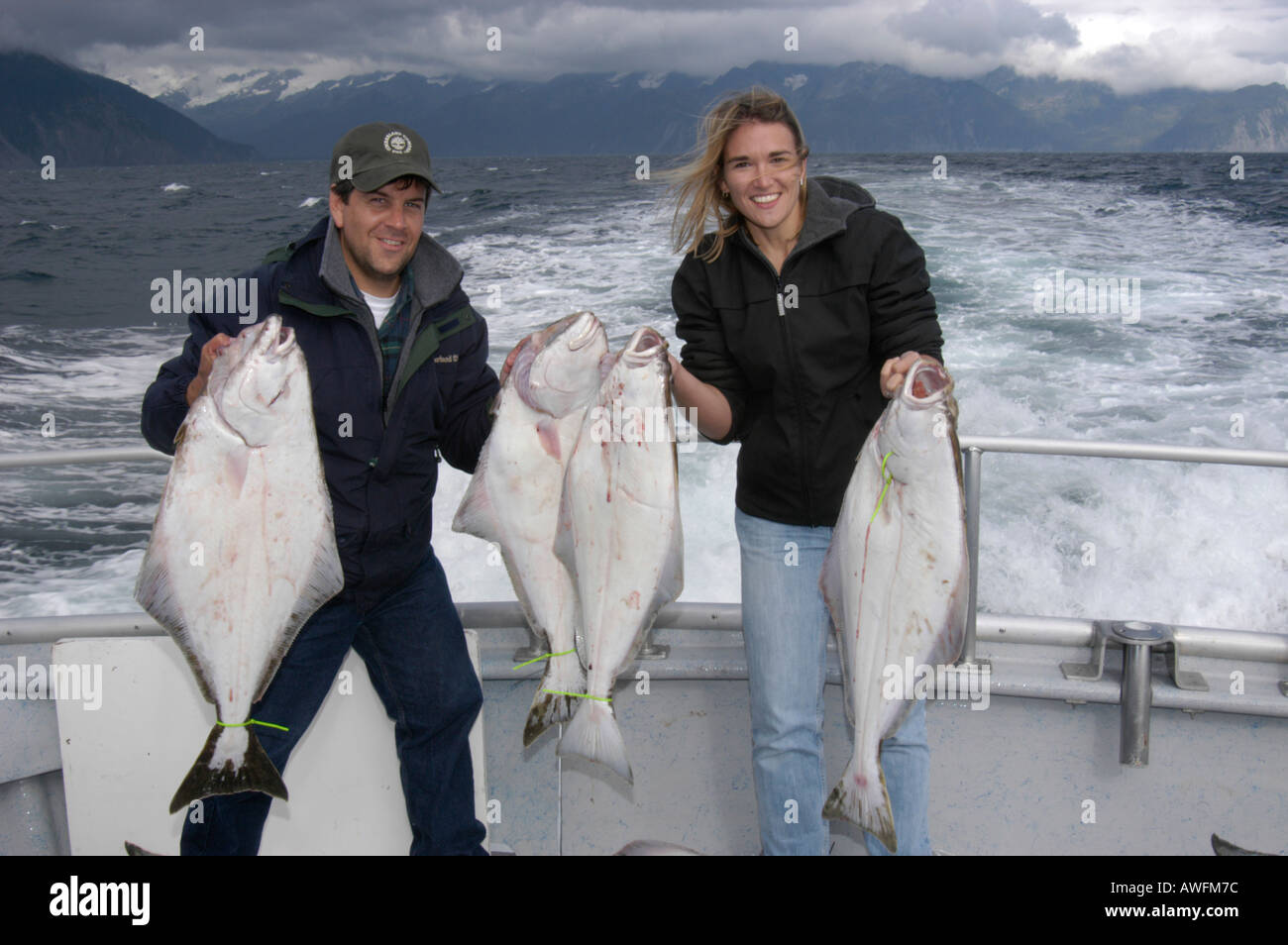 Halibut fishing seward alaska stock photo royalty free for Seward alaska fishing