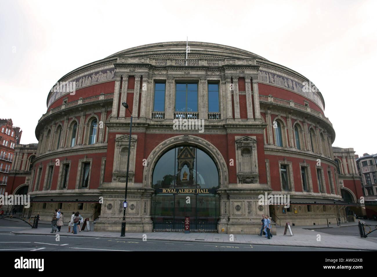 Stock Photo - The world famous tourist attraction landmark Victorian  building the Royal Albert Hall Kensington London England Britain UK EU