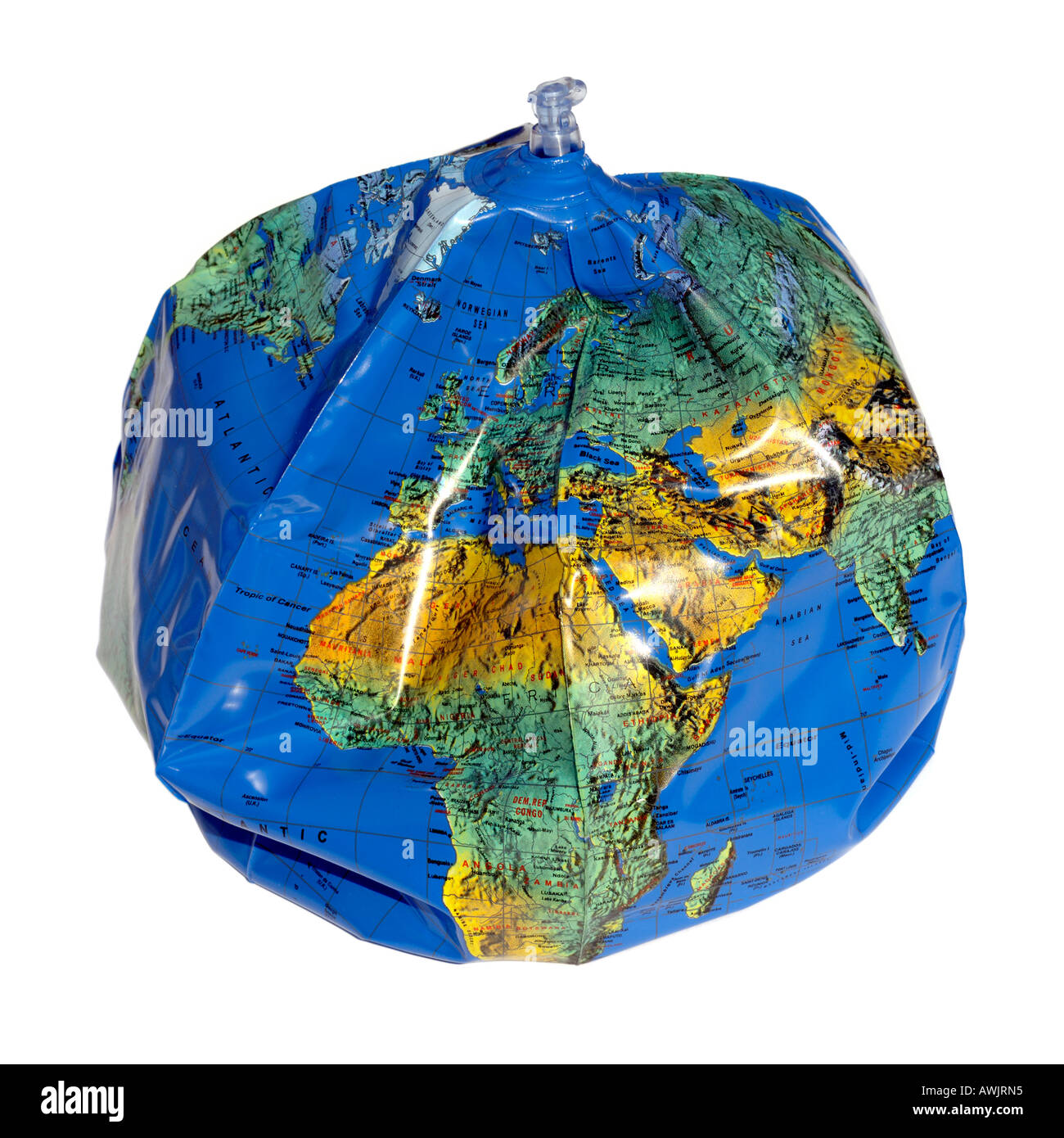 Inflatable Globe World Map. Deflated inflatable globe Stock Photo  9484180 Alamy