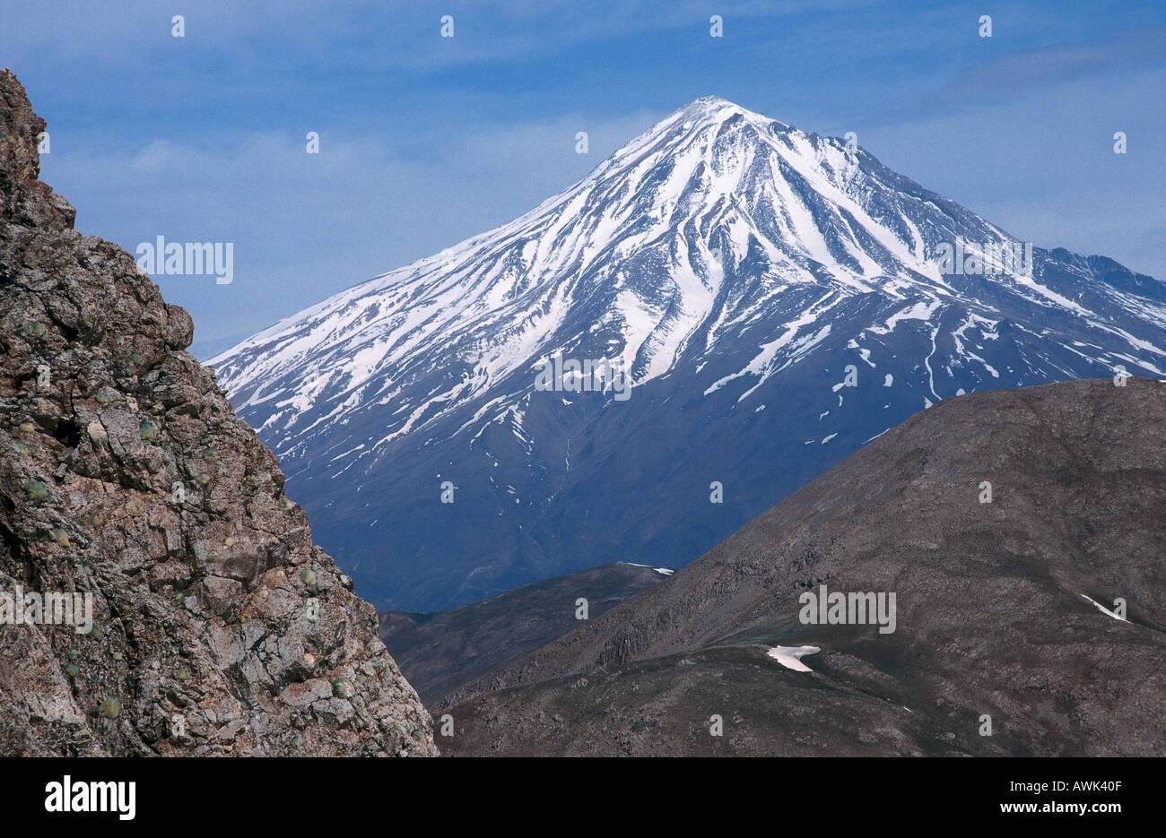 Mountain peak covered with snow mt damavand alborz mountain mountain peak covered with snow mt damavand alborz mountain range iran sciox Gallery